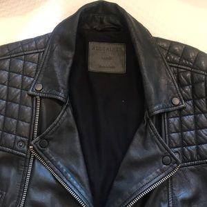 All Saints Leather Jacket For Men Size Large